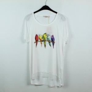 La Fee Maraboutee T-Shirt Gr. L weiß mit Vogelprint NEU (19/09/343)