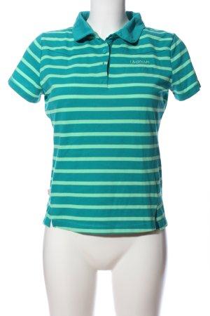 LA GEAR Polo-Shirt grün-türkis Streifenmuster Casual-Look