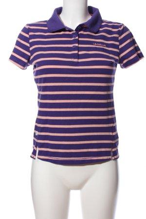 LA GEAR Polo-Shirt lila-pink Streifenmuster Casual-Look