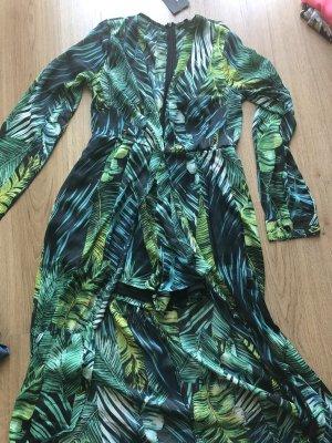 Fashion Nova Maxi abito verde bosco-nero