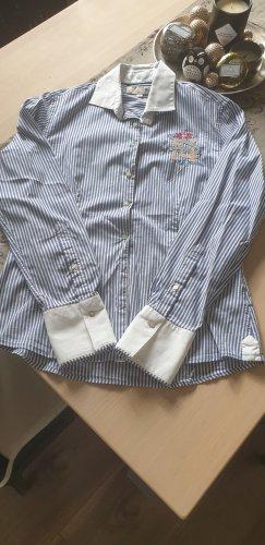 La Martina Long Sleeve Blouse blue cotton