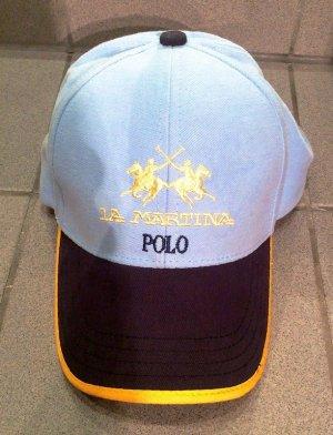 La Martina Cap Käppie Mütze Schirrmütze Hut Kopfbedeckung blau gelb