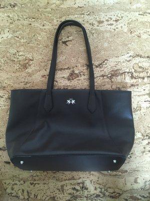 La Martina dunkelbraune Handtasche