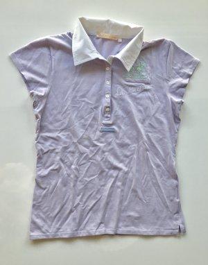 La Martina flieder purpur Poloshirt ital. XL (=S-M)