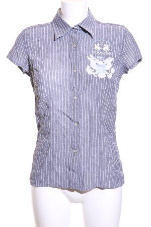 La Martina Hemd-Bluse blau-weiß Streifenmuster Elegant