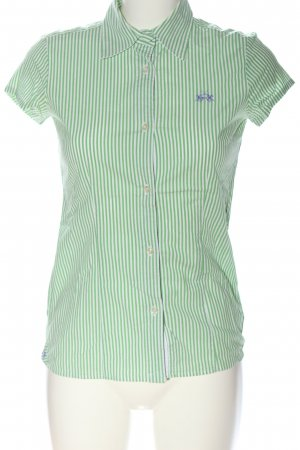 La Martina Kurzarmhemd grün-weiß Streifenmuster Business-Look