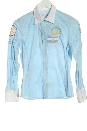 La Martina Long Sleeve Shirt blue casual look