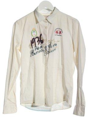 La Martina Long Sleeve Shirt themed print casual look