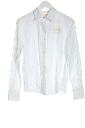 La Martina Long Sleeve Shirt white business style