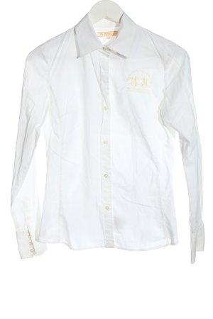 La Martina Long Sleeve Shirt white casual look