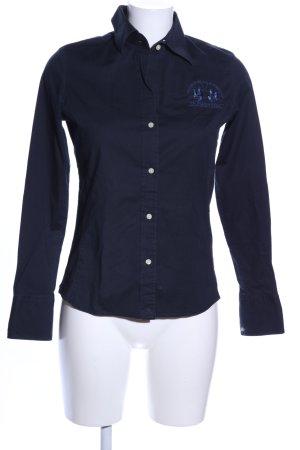 La Martina Camisa de manga larga azul look casual