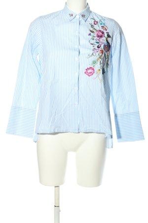 La Martina Langarmhemd blau-weiß Streifenmuster Casual-Look