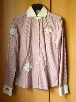 La Martina Shirt Blouse white-brick red cotton