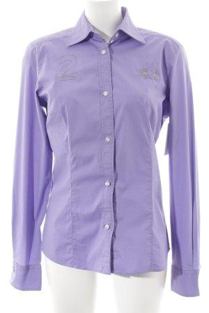 La Martina Long Sleeve Shirt purple casual look