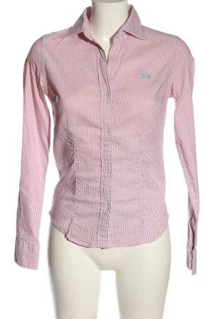 La Martina Long Sleeve Shirt pink-white striped pattern casual look