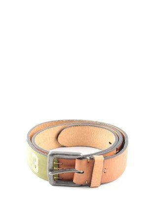 La Martina Cintura di pelle color carne-cachi caratteri stampati stile casual