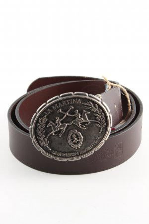 La Martina Leather Belt brown casual look