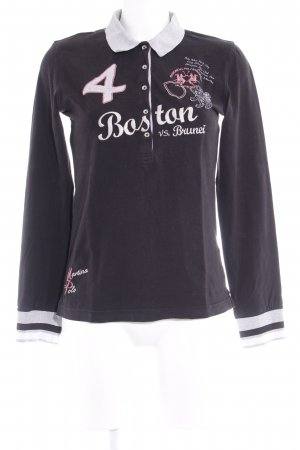 La Martina Longsleeve embroidered lettering casual look