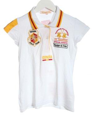 La Martina Polo Shirt white themed print casual look