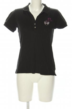 La Martina Polo-Shirt schwarz Casual-Look
