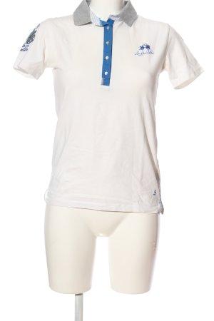 La Martina Polo-Shirt Motivdruck Casual-Look