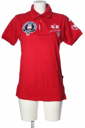 La Martina Polo Top red embroidered lettering casual look
