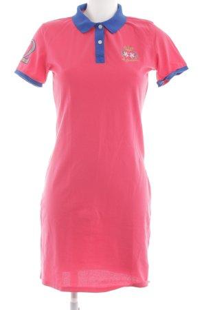 La Martina Robe Polo rose-bleu style décontracté
