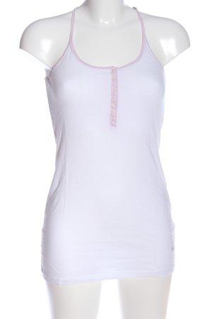 La Martina Top con bretelline bianco stile casual