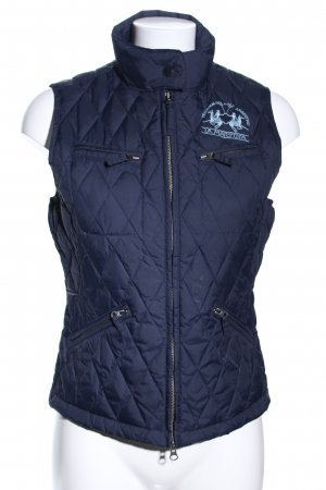 La Martina Quilted Gilet blue quilting pattern casual look