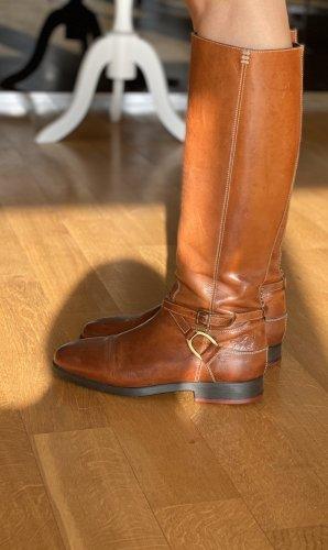 La Martina Riding Boots cognac-coloured leather