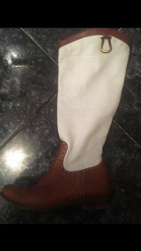 La Martina Botas de equitación blanco-marrón