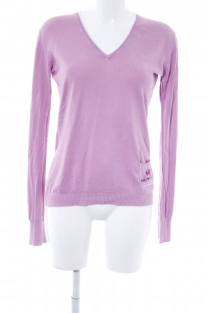 La Martina Strickpullover rosa-wollweiß Casual-Look