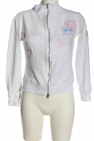 La Martina Sweat Jacket white printed lettering casual look