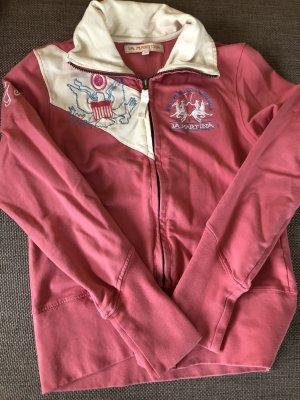 La Martina Sweat Jacket pink cotton
