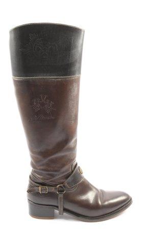 La Martina Wide Calf Boots brown-black casual look