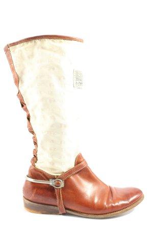 La Martina Wide Calf Boots brown-natural white casual look