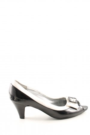 Peep Toe Pumps zwart-wit zakelijke stijl