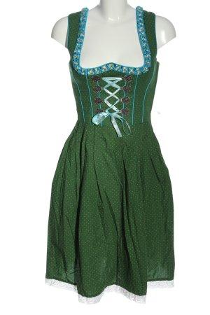 La Montanara Dirndl vert motif de tache style classique
