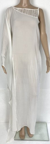 La perla Caftán blanco Seda