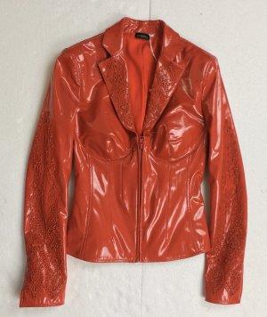 La Perla, Coated Cady Jacket, rot, 30 (It. 36), neu, € 3.500,-