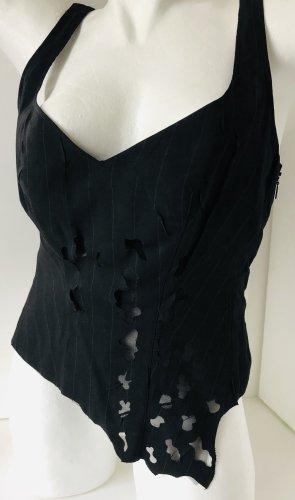 La perla Corsage Top black-anthracite viscose