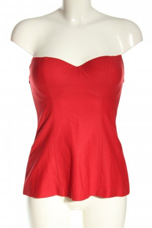 La perla Corsage Top red extravagant style