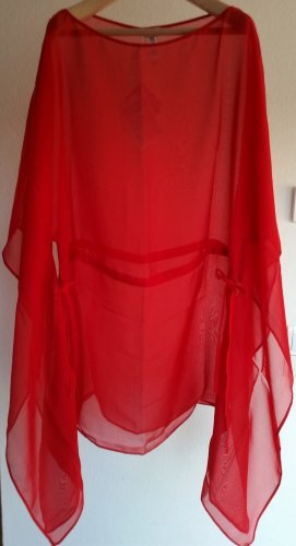 La perla Caftan red silk
