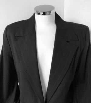 La perla Robe manteau noir-gris anthracite viscose