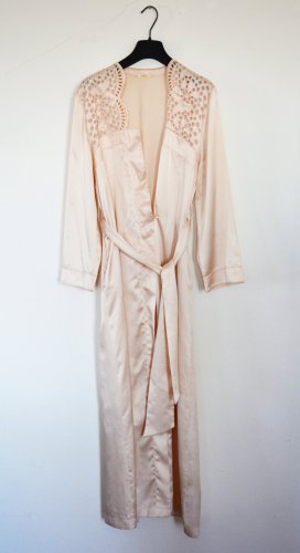 La perla Dressing Gown dusky pink polyester