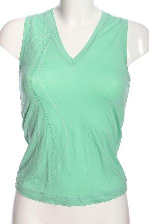 La perla Tank Top green printed lettering casual look