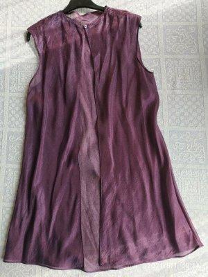 La perla Haut évasé en bas rouge mûre-violet viscose