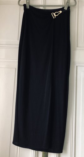 La perla Falda cruzada negro-color oro poliamida