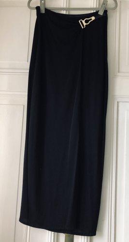 La perla Wraparound Skirt black-gold-colored polyamide
