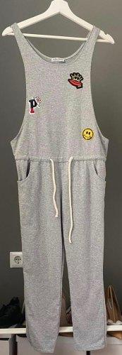 La petite Parisienne Jumpsuit Overall Auda Gr. S hellgrau Patches